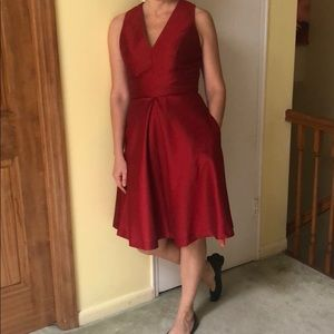 Alfred Sung A-line midi dress!